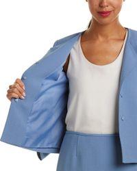 Tahari Blue Tahari Asl 2pc Jacket & Skirt Set