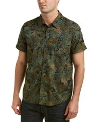 Blank NYC - Green Camo Woven Shirt for Men - Lyst