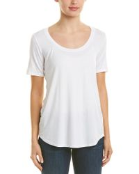 Three Dots White Evelyn Tunic