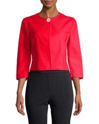 Piazza Sempione - Red Crop Jacket - Lyst