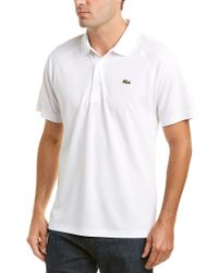 Lacoste White Ultra Dry Polo for men