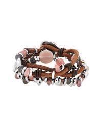 Uno De 50 Metallic Unode50 Silver Crystal Bracelet