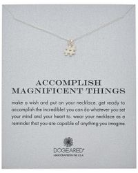 Dogeared - Metallic Reminder Collection Hashtag Silver Necklace - Lyst