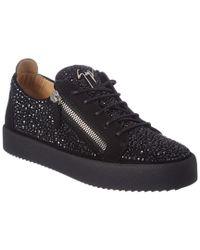 Giuseppe Zanotti Black Suede Sneaker for men