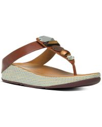 Fitflop Brown Jewelry Leather Sandal