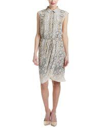 Magaschoni Multicolor Silk Faux Wrap Dress