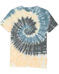Original Paperbacks Blue South Sea Spiral Tie-dye T-shirt for men