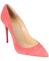 Christian Louboutin Pink Pigalle Follies 100 Suede Pump