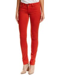 Level 99 Red Lily Roma Skinny Straight Leg