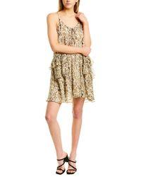 IRO Brown Buzon Silk Shift Dress