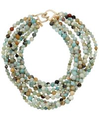 Kenneth Jay Lane Multicolor 18k Plated Jade Necklace