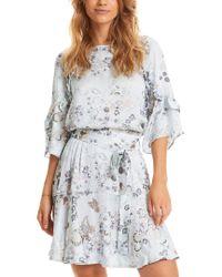 Odd Molly Blue Flower Fantasy Flirt Dress