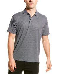 Robert Graham Black Retutemann Knit Polo Shirt for men