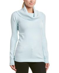 French Connection - Blue Cowl Neck Tunic Sweater - Lyst
