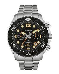Bulova Metallic Men's Stainless Steel Watch for men