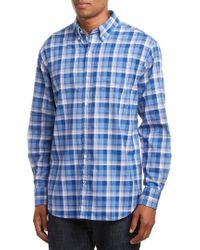 J.McLaughlin Blue Carnegie Woven Shirt for men