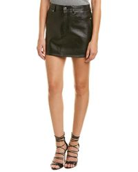 Helmut Lang Black Tailored Leather Mini Skirt