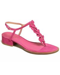 Jack Rogers Pink Bella Suede Sandal