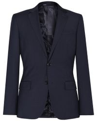 Reiss Blue Wool-blend Jacket