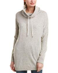 Splendid Gray Oversized Turtleneck Wool-blend Tunic