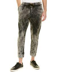 Robert Geller Gray Acid-wash Sweatpant for men