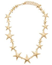 Kenneth Jay Lane - Metallic 22k Plated Necklace - Lyst