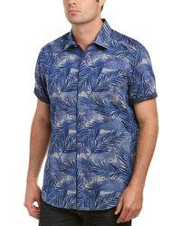 Robert Graham Blue Classic Fit Acme Road Woven Shirt for men