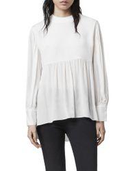 AllSaints White Allsaints Fayre Top