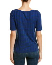 Three Dots Blue British T-shirt