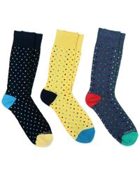 Unsimply Stitched Blue Men's Pack Of 3 Socks for men