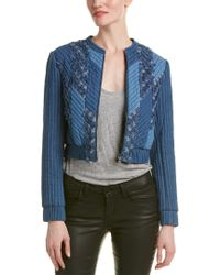 Rebecca Taylor - Blue Quilted Patch Chambray Jacket - Lyst