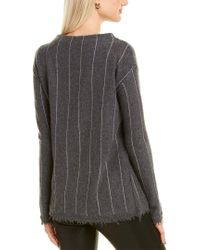 Lisa Todd Gray Wall Street Cashmere Sweater