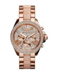 Michael Kors Pink Women's Stainless Steel Watch