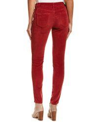 Level 99 Red Liza Rosel Corduroy Skinny Leg