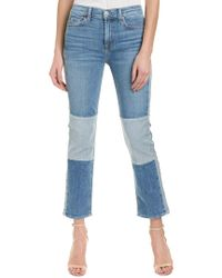7 For All Mankind 7 For All Mankind Edie Blue High-rise Crop Straight Leg