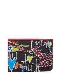 Christian Louboutin Black Clipsos Leather Bifold Wallet for men