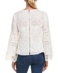 Nanette Lepore White Silk-blend Top