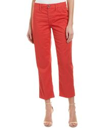 Joe's Jeans - Jane Nantucket Red High-rise Straight Crop - Lyst