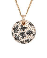 Diana M Metallic . Fine Jewelry 18k Rose Gold 3.13 Ct. Tw. Diamond Necklace