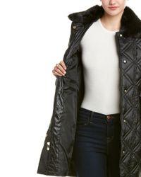 Via Spiga Black Belted Coat