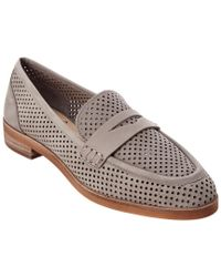 Vince Camuto Gray Kanta Leather Flat
