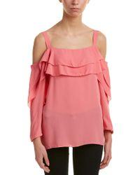 NYDJ Pink Cold-shoulder Blouse