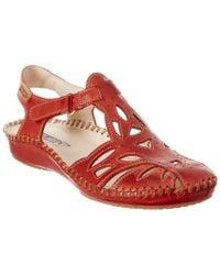 Pikolinos Red Puerto Vallarta Leather Sandal