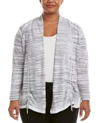 NIC+ZOE Gray Linen-blend Cardigan