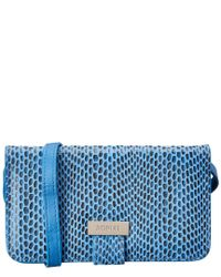 Sorial Blue Rubina Cell Phone Leather Crossbody
