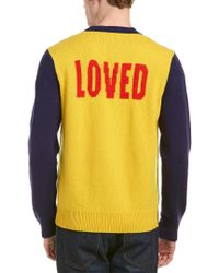 Gucci Yellow Tiger Wool Sweater for men