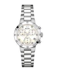 Bulova Metallic Women's Stainless Steel Watch