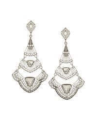 Sparkling Sage Metallic Silver Plated Crystal Earring