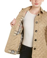 Burberry - Natural Ashurst Diamond Quilted Jacket - Lyst
