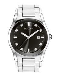 Bulova Metallic Men's Stainless Steel Diamond Watch for men